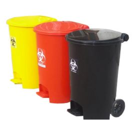Mask Disposable Bin With Closed Lid With Wheel
