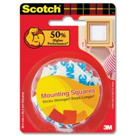 "Scotch Double sided foam tape pre-cut 1"" squares"