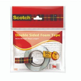 Scotch Double sided foam tape rolls 24mm x 0.75m