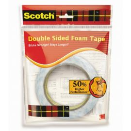 Scotch Double sided foam tape rolls 18mm x 3m