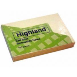 Highland Self Stick Removable Notes (3 X 3-Inches) Pack Of 25