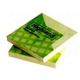 Highland Self Stick Removable Notes (3 X 4-Inches) - (100 Pcs)