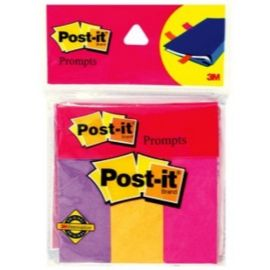3M Post-It Prompts 1X3 3 Colors - 150 Flags - PK Of 10