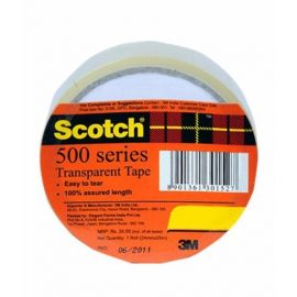 3M Scotch 500 Series Transparent Tape 18 Mm X 25 Mtrs Roll - PK Of 20