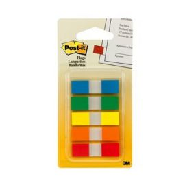 3M Post It Flags-1.2 X 4.5 Cm,5 Colors,125 Sheets/Pack - 15 Pcs