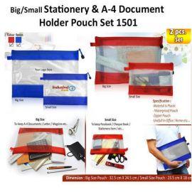 A4 Document Holder Pouch Set (H-1501) - 2Pcs Set