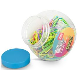 Deli 0053 Colored Paper Clip (Assorted) - 200 Pcs - 1 Pc