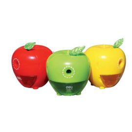 Deli Apple Rotary Pencil Sharpener 0659 Assorted
