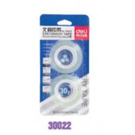 Deli Stationery Tape 30022 Clear - 38Um*12Mm*30Y