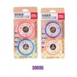 Deli Stationery Tape 30023 Assorted - 38Um*12Mm*30Y
