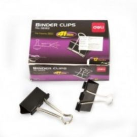 Deli Binder Clip 41Mm (Black) Box