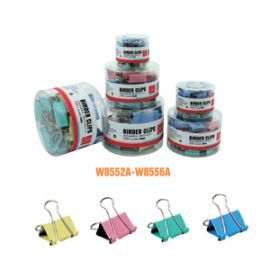 Deli Color Binder Clip(Assorted) 25Mm
