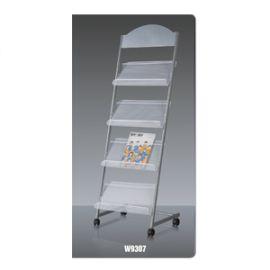 Deli Magazine Stand Grey W9307