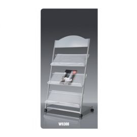 Deli Magazine Stand Grey W9308