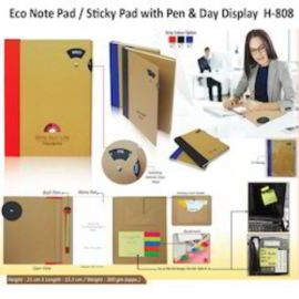 Eco Note Pad / Sticky Notes With Pen (H-808)