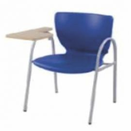 Chair With Writing Pad Afc-502  Powder Coated  Wooden Writing Attached Powder Coat  Pp Cell