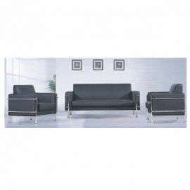 Executive  Chair Afc-602  Leatherite Tapestry Chrome Legs    Three Seater