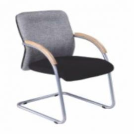 Executive  Chair Afc-151  Nil  Chrome Pipe Frame  Nil  Wooden< Fabric