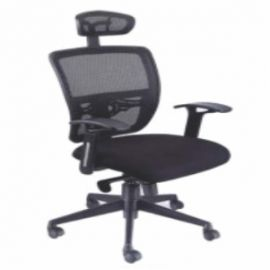 Executive  Chair Afc-255  Nylon  Nylon Base  Synchro Knee Tiild  Pp  Seat Fabric And Back Mesh