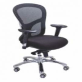 Executive  Chair Afc-260  Nylon  Chrome Base  Synchro Knee Tilt  Pu Adjustable  Seat Fabric And Back Mesh