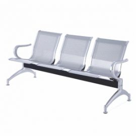 Visitor Chair Iitab3S Mss  Italia New 3 Seater Bench Silver