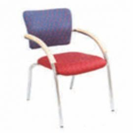 Visitor Chair Afc-404  Nil  Chrome Frame  Nil  Woode  Fabric