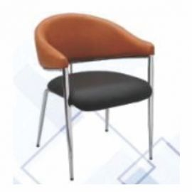 Visitor Chair Afc-718  Chrome  Nil  Nil  Seat And Back Leatherite