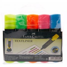 FABER-CASTELL TEXTLINER ASSORTED -PACK OF 5