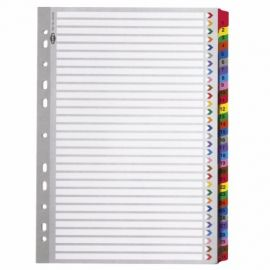 Pre-Punched Pvc File Dividers Index 1-31 A4 31 Sheets Per Set - 5 Sets