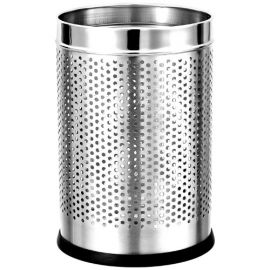 "Stainless Steel Perforated Dustbin 10"" X 14"""