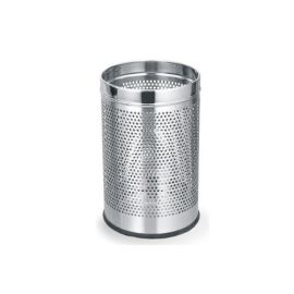 "Stainless Steel Perforated Dustbin 8"" X 13"" - 1PK"