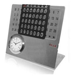 Steel Life Time Calendar With Watch & Month (H-124)