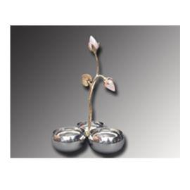 Condiment Set of 3 Bowl (AI-LT-10) - Brass & Steel