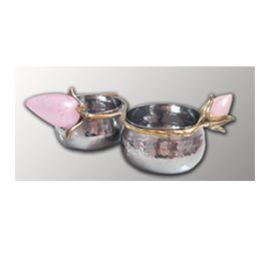 Twin Bowl (AI-LT-20) - Brass & Steel