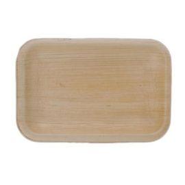 "Areca Leaf Rectangular Disposable Plates 4X4.5"" - PK Of 100"