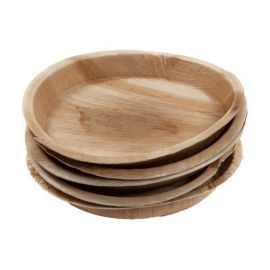 """Areca Leaf Round Disposable Plates 8""""  - Pack of 100"""