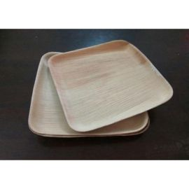 """Areca Leaf Square Disposable Plates 6x6"""" - Pack of 25"""