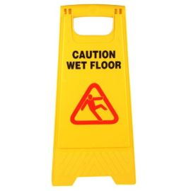 Caution Wet Floor Sign Board - Yellow