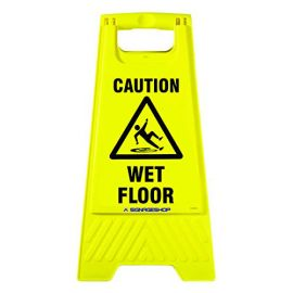 Caution Board With Stand-Wet Floor