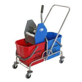 Charnock Double Bucket Wringer Trolley Cd030
