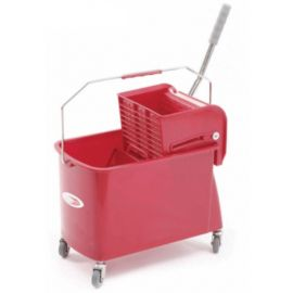 Charnock Single Bucket Mop Wringer Trolley With Partition C 118A
