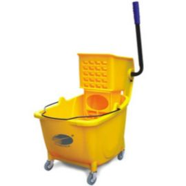 Charnock Single Bucket Mop Wringer Trolley Without Partition C118