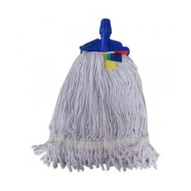 "Clip Mop Refill 6"" Flat 300Gms Cotton Yarn- PK Of 10"