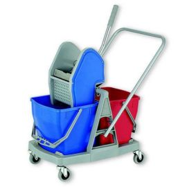 Wringer Trolly Double Bucket 34Ltr
