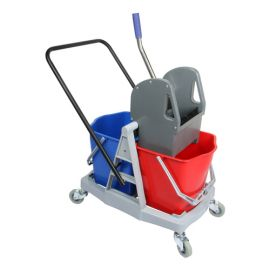 Kleenal Double Cleaning Bucket 34Ltr Capacity With Wringer Trolley K-119A