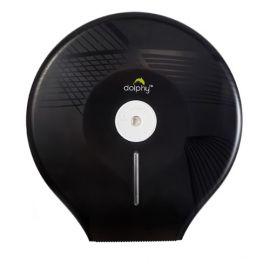 Dolphy Anti-Dust Jumbo Roll Toilet Paper Dispenser- Black