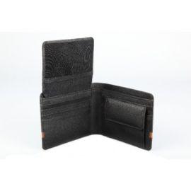 Elan Classic Lth Coin Pouch Flap Wallet- Black
