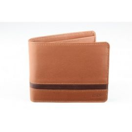 Elan Classic Lth Coin Pouch Flap Wallet- Tan