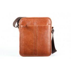 Elan Leather Shoulder Bag (Small)-Tan