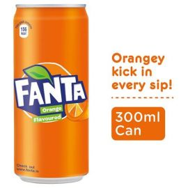 Fanta Soft Drink - Orange Flavour, 300 ml (Pack of 24)